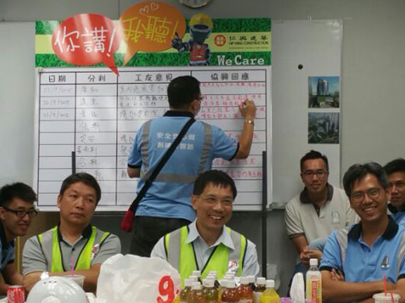 Interactive dialogue between top management and frontline workers